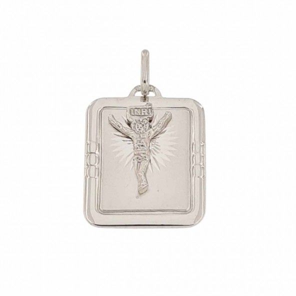925/1000 Silver Pendant with Christ 20mm/16mm.