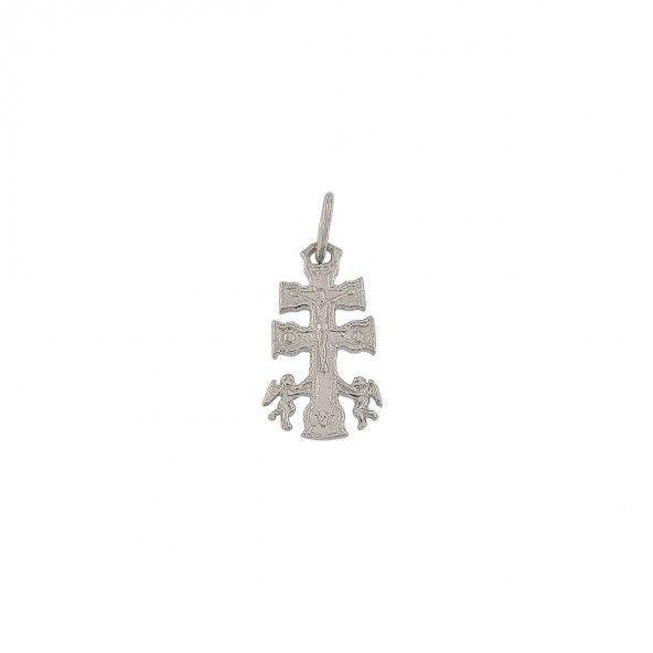Pendentif croix de caravaca Argent 925/1000  17mm.