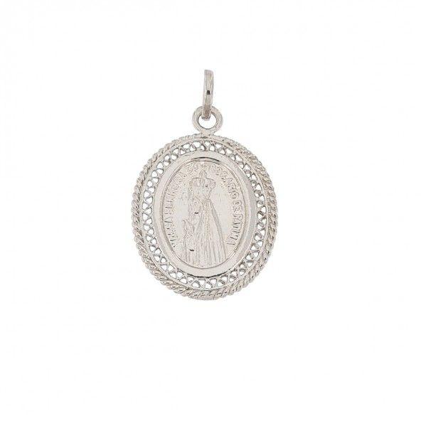 925/1000 Silver Pendent Saint Fatima 25mm.