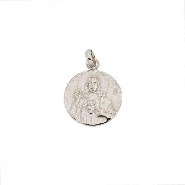 Medalha Prata 925/1000 Nossa Sra. De Fatima 19mm.