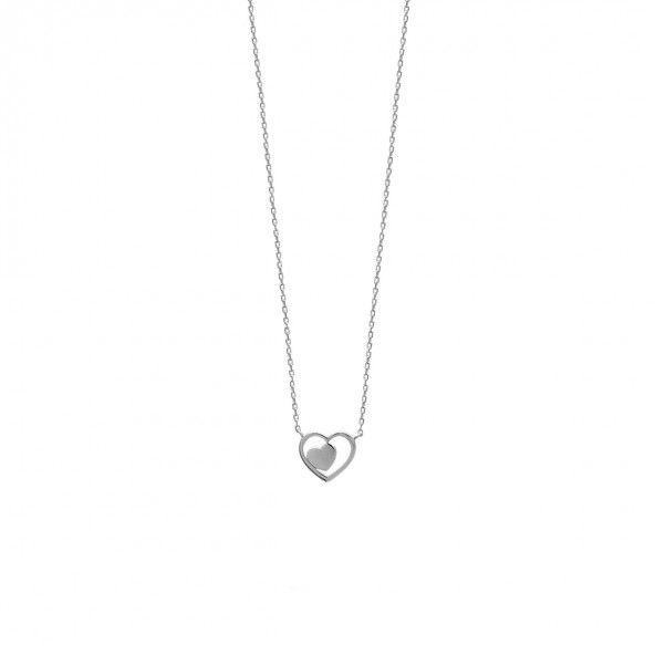 Colar Coração Prata 925/1000 45cm.