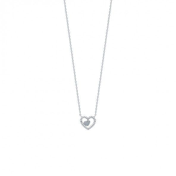 925/1000 Silver Heart Necklace 45cm.