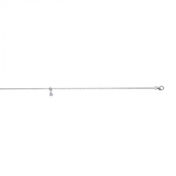 Chaine de Cheville avec Goute Argent 925/1000 25cm.
