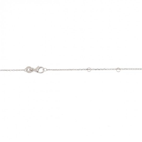 925/1000 Silver Two Hearts Necklace 45cm.