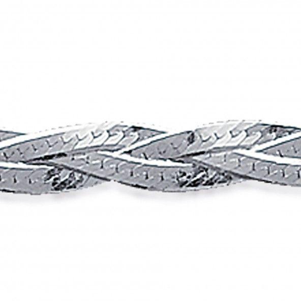 Pulseira Malha Trança Prata 925/1000 18cm.