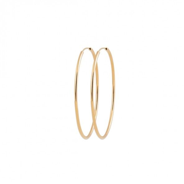 Gold Plated Hoops Oval 60mm.