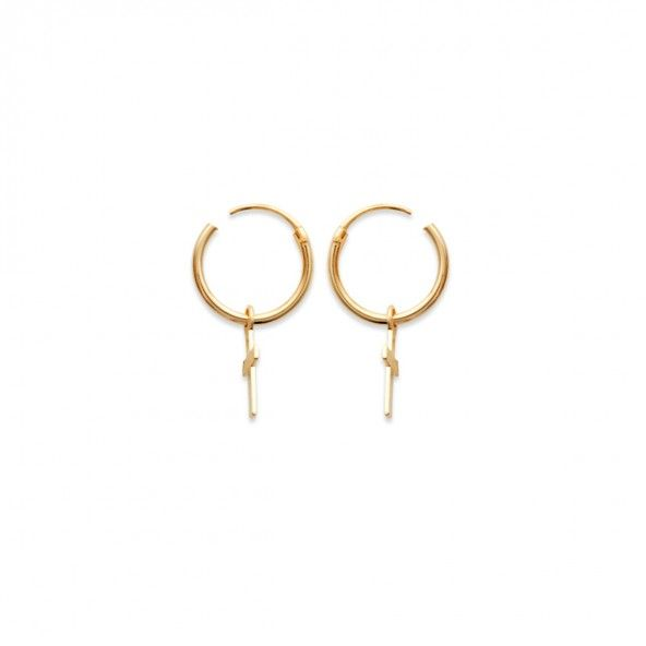 Gold Plated with Cross 12mm.