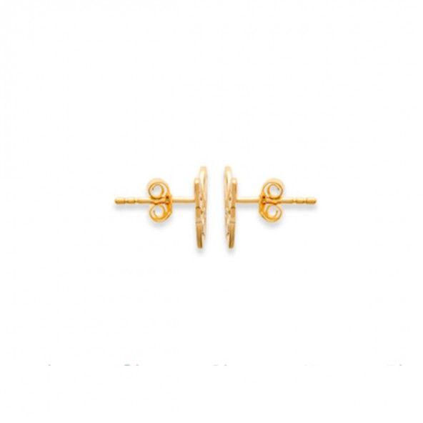 Gold Plated Butterfly Earrings 9mm.