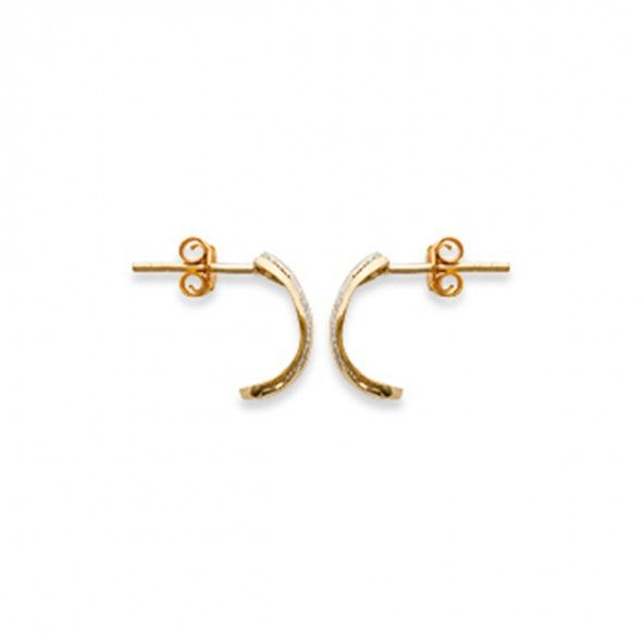 Gold Plated Bicolor Earring 18mm.