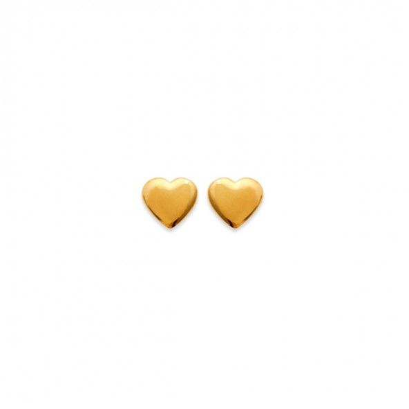 Gold Plated Heart Earring 7mm.