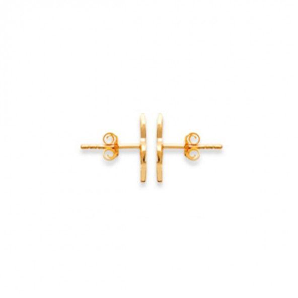 Brincos Clave de Sol Plaqueado Ouro 13mm.