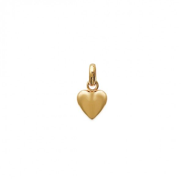 Gold Plated Heart Pendent 10mm.