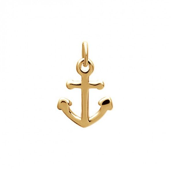 Gold Plated Anchor Pendent 15mm.