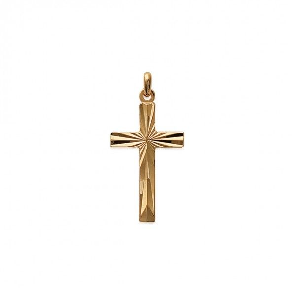 Medaille Croix Travaille Plaqué Or 29mm.