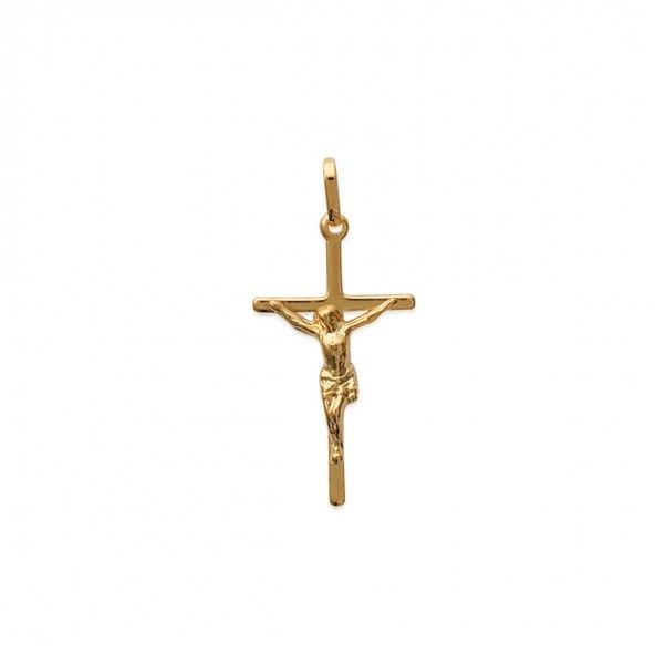 Gold Plated Cross with CHrist Pendent 31mm.