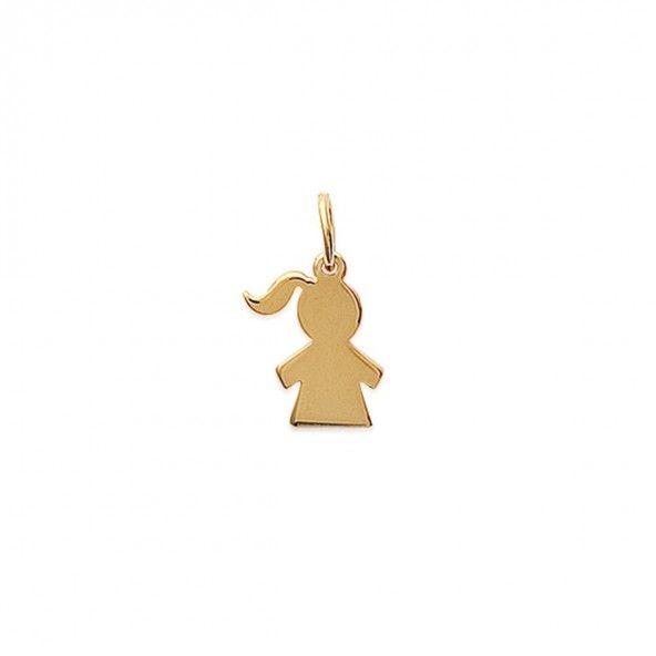 Gold Plated Girl Pendent 15mm.