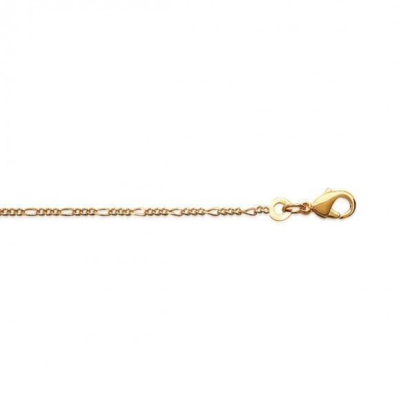 Gold Plated 3+1 Necklace 50cm.