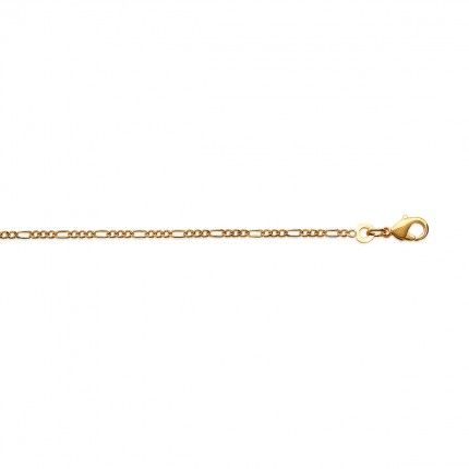 Gold Plated 3+1 Necklace 60cm.
