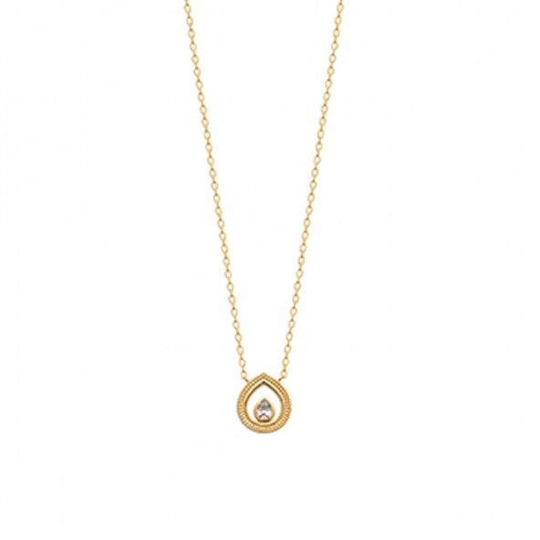 Gold Plated Drop Necklace 45cm.