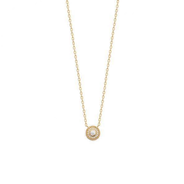 Gold Plated wiyh Zirconium Necklace 45cm.