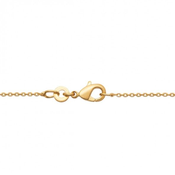 Gold Plated Sun Necklace 45cm.