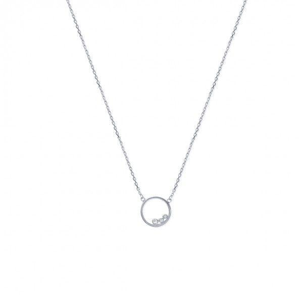 925/1000 Silver Bracelet Circle with 3 Stones 18cm.