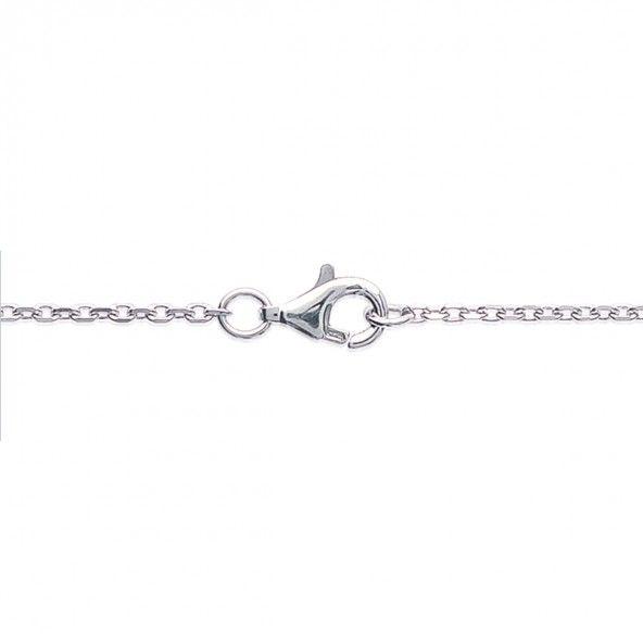925/1000 Silver Bracelet Circle with 1 Stones 18cm.