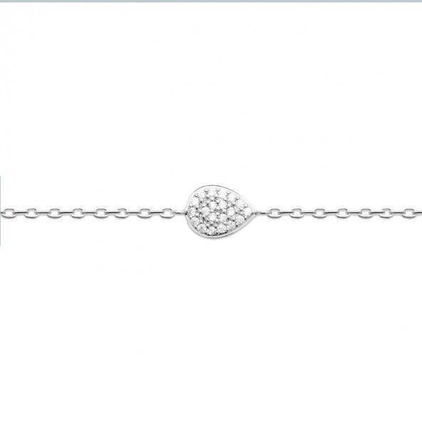 Pulseira Gota Prata 925/1000 18cm.
