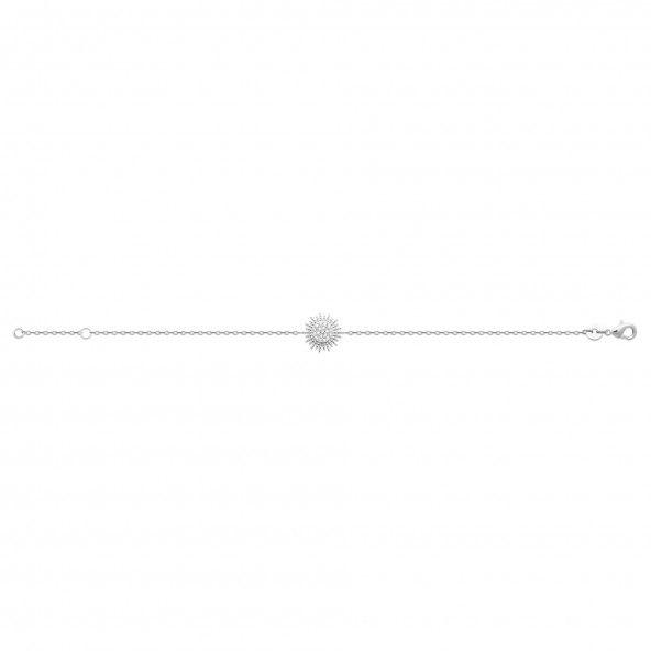 925/1000 Silver Sun Bracelet 18cm.