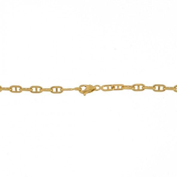 Chain 750/1000 Gold Mesh Forçat Marine 60cm.