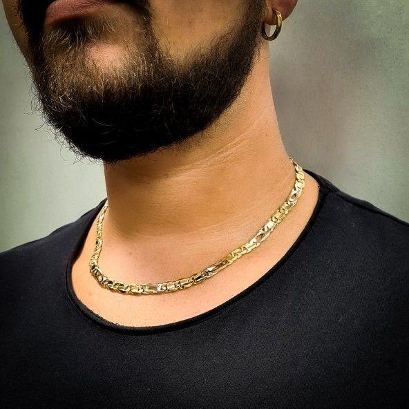 Chain 750/1000 Gold Mesh Figaro Fantasy 50cm.