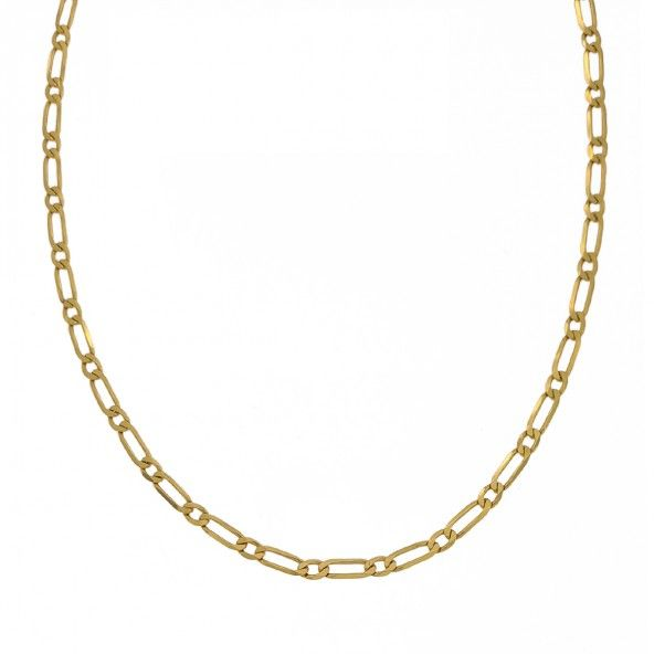 Chain750/1000 Gold Mesh Figaro 1+1 50cm.
