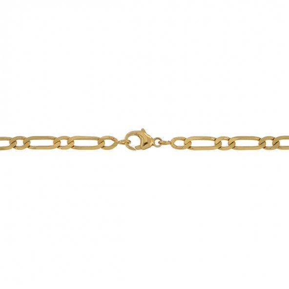 Fio Figaro 1+1 Ouro 750/1000 60cm.