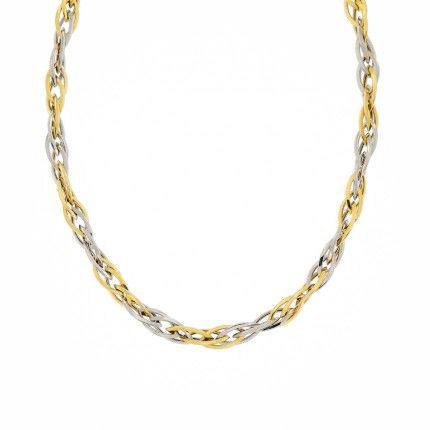 Necklace 750/1000 Gold Fantasy Mesh 45cm.