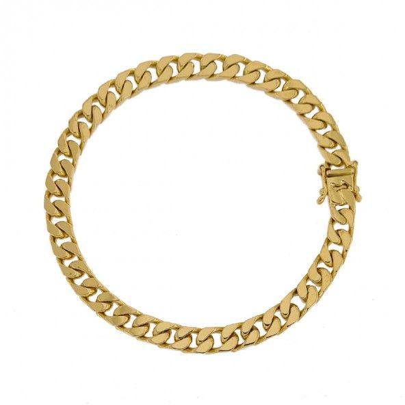 Bracelet 750/1000 Gold Mesh Curb 21cm.
