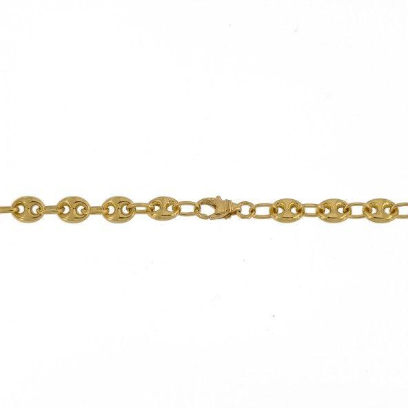 Chain 750/1000 Gold Mesh Bean Coffee  60cm.