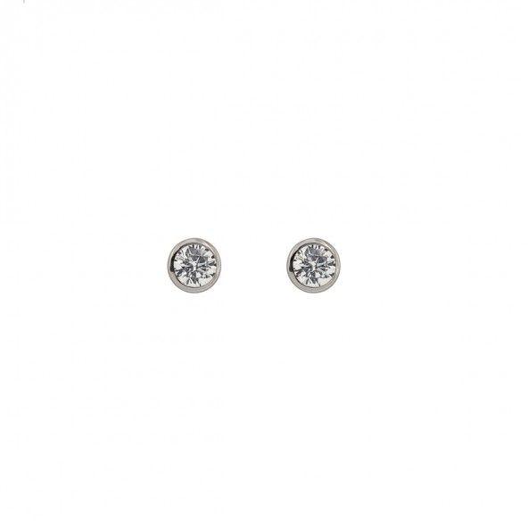 925/1000 Silver Zirconium Earring 6mm.