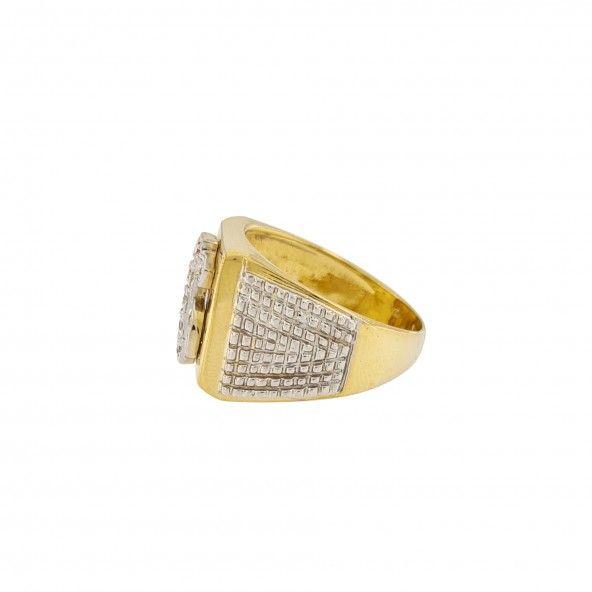 750/1000 Gold Mj Dollar Ring 16mm.