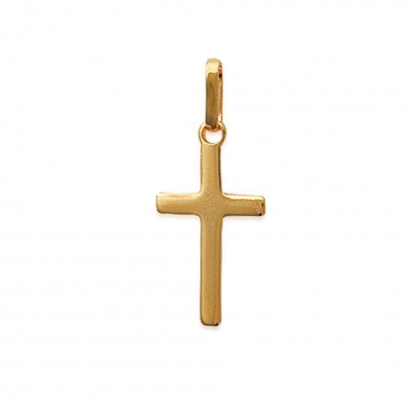 Cruz Plaqueado Ouro 25mm.