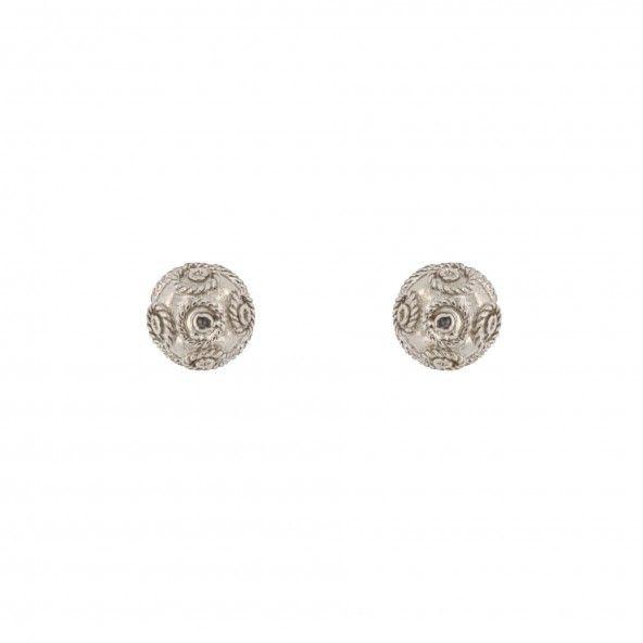 925/1000 Silver ball Earring 6mm.