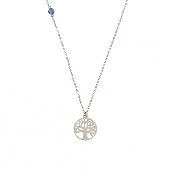 925/1000 Silver  Tree of life Necklace 40cm Extendable 5cm.