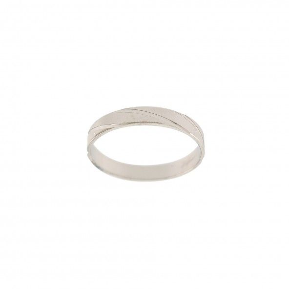 Alliance  avec reyures Diagonal Or Blanc 375/1000 3mm.