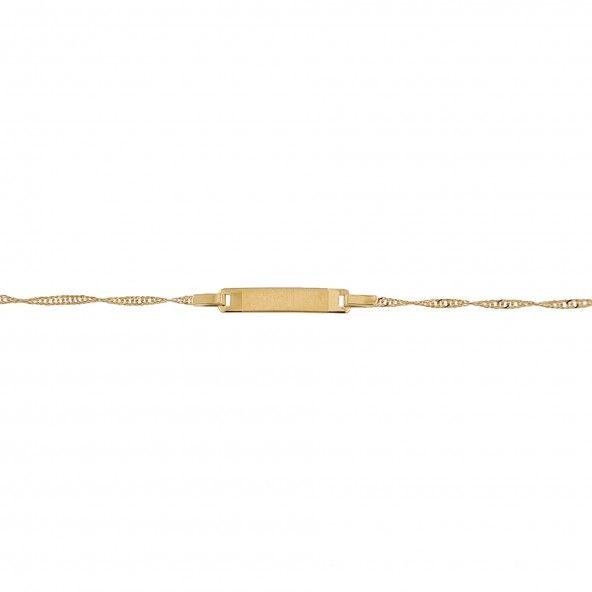 Pulseira  Com Chapa  Ouro 375/1000.