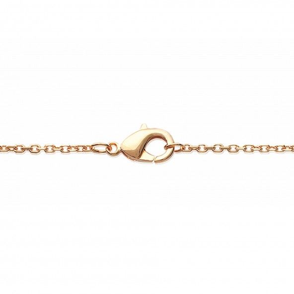 Gold Plated Necklace with Double heart