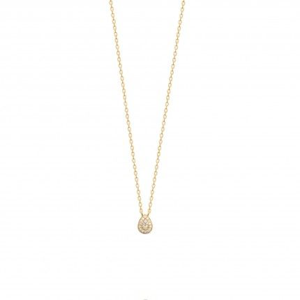 Gold Plated Necklace in tear Drop