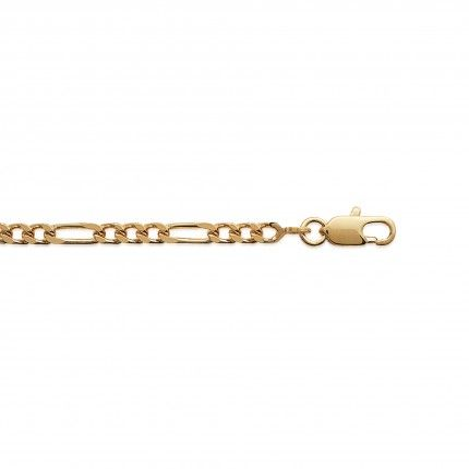 Gold Plated Necklace Figaro 3+1