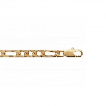Gold Plated Bracelet Figaro 3+1